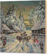 Russian Winter Wood Print