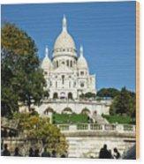 Sacre-coeur /  Basilica Of The Sacred Heart Of Paris Wood Print