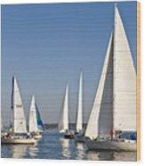 Sailboat Race Wood Print