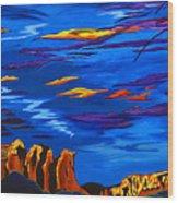 Sailing Sedonas Sky Wood Print