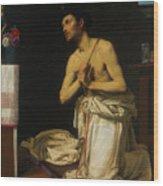 Saint Dominic In Penitence Wood Print