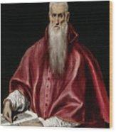 Saint Jerome As Scholar Wood Print