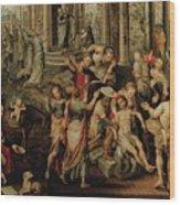 Saint Paul And Saint Barnabas At Lystra Wood Print