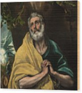 Saint Peter In Tears Wood Print