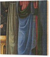 Saints Francis And Mark Wood Print