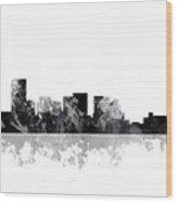 Salem Oregon Skyline Wood Print