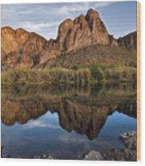 Salt River Reflections Wood Print