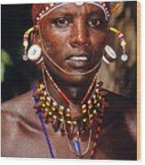 Samburu Warrior Wood Print