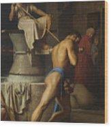 Samson And The Philistines Wood Print
