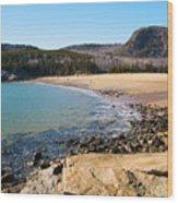 Sand Beach Acadia National Park Wood Print
