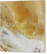Sandy Wave Wood Print