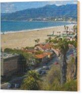Santa Monica Ca Steps Palisades Park Bluffs  Wood Print