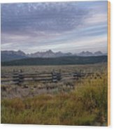 Sawtooth Range Wood Print