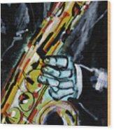 Sax Co-notations Wood Print