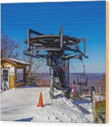 Scenery Around Timberline Ski Resort West Virginia Wood Print