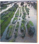 Sea In Barrika, Bizkaia Wood Print