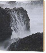 Seal Rock Waves And Rocks 4 Wood Print