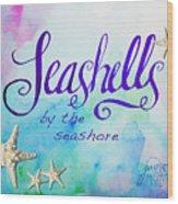 Seashells By Jan Marvin Wood Print