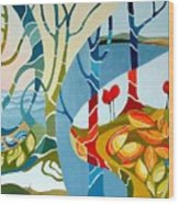 Seasons Of Creation Wood Print by Carola Ann-Margret Forsberg
