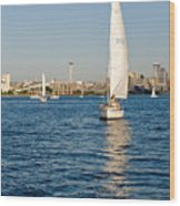 Seattle Sailing Wood Print