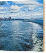 Seattle Washington Cityscape Skyline On Partly Cloudy Day Wood Print