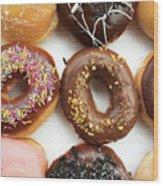 Selection Of Doughnut Wood Print