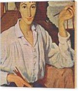 Self-portrait Zinaida Serebryakova Wood Print