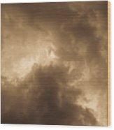 Sepia Clouds Wood Print by David Pyatt