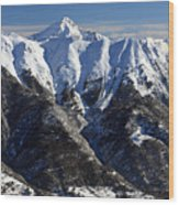 Serre Chevalier In The French Alps Wood Print