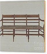 Settee Wood Print