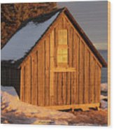Shack At Stoney Point Wood Print