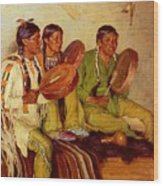 Sharp Joseph Henry Hunting Song Taos Indians Joseph Henry Sharp Wood Print