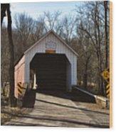 Sheards Mill Covered Bridge - Bucks County Pa Wood Print