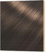 Shiny Brunette Hair  Wood Print
