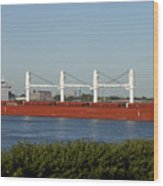 Shipping - New Orleans Louisiana Wood Print