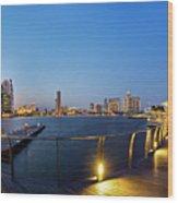Singapore - Marina Bay Wood Print