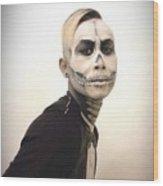 Skull And Tux Wood Print