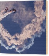 Skydivers Wood Print
