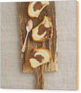 Slice Of Marble Cake Wood Print