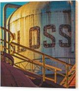 Sloss Furnaces Wood Print