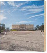 Slottet, The Royal Palace In Oslo, Norway Wood Print