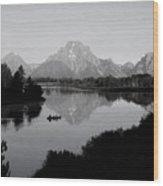 Snake River Morning Wood Print