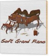 Soft Grand Piano  Wood Print