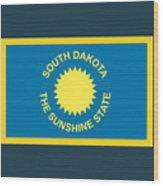 South Dakota Flag Wood Print