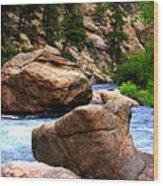 South Platte River Wood Print