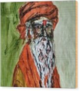 Spiritual Guru Wood Print