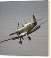 Spitfire Bm597 Jh-c Wood Print