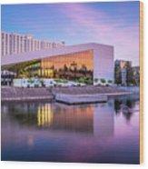 Spokane Washington City Skyline And Convention Center Wood Print