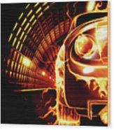 Sports Car In Flames Wood Print by Oleksiy Maksymenko