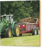 Spreading Manure Wood Print
